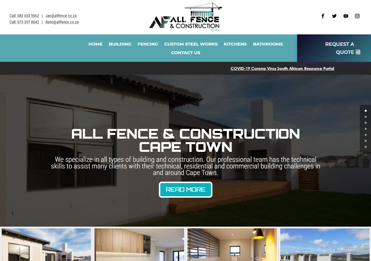 All Fence & Construction Website