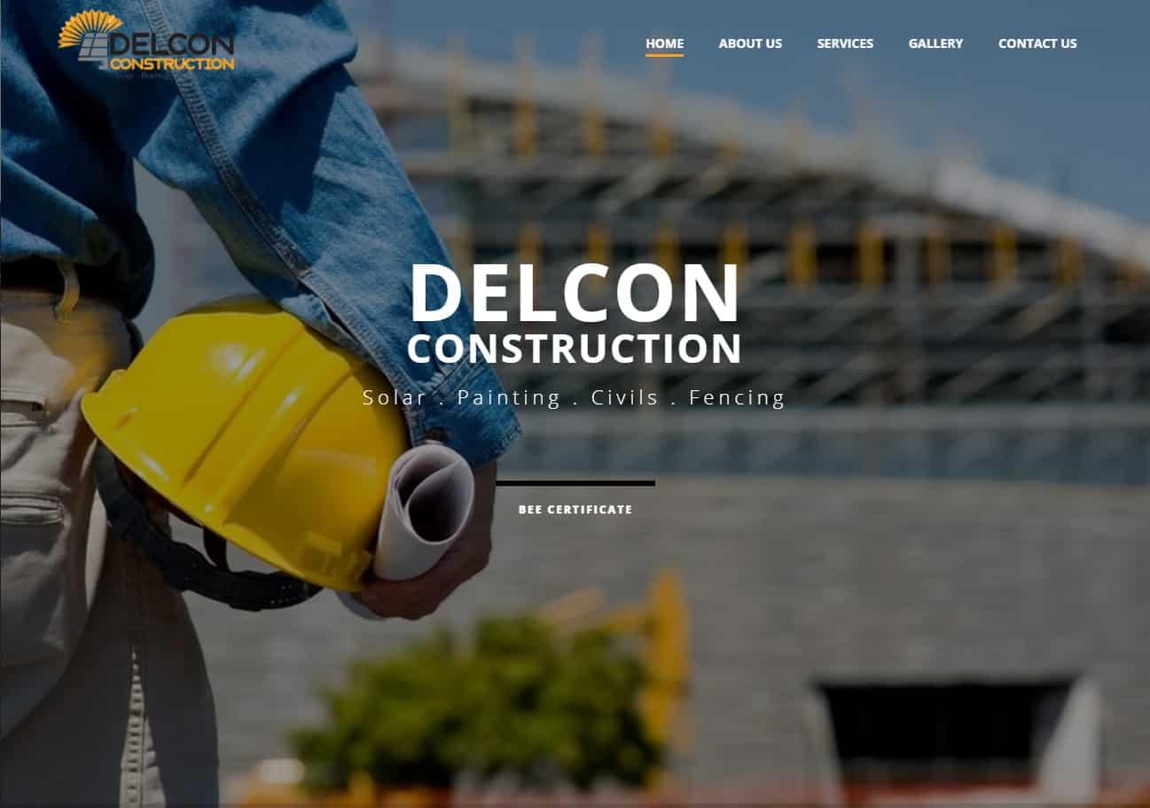 Delcon Construction Website