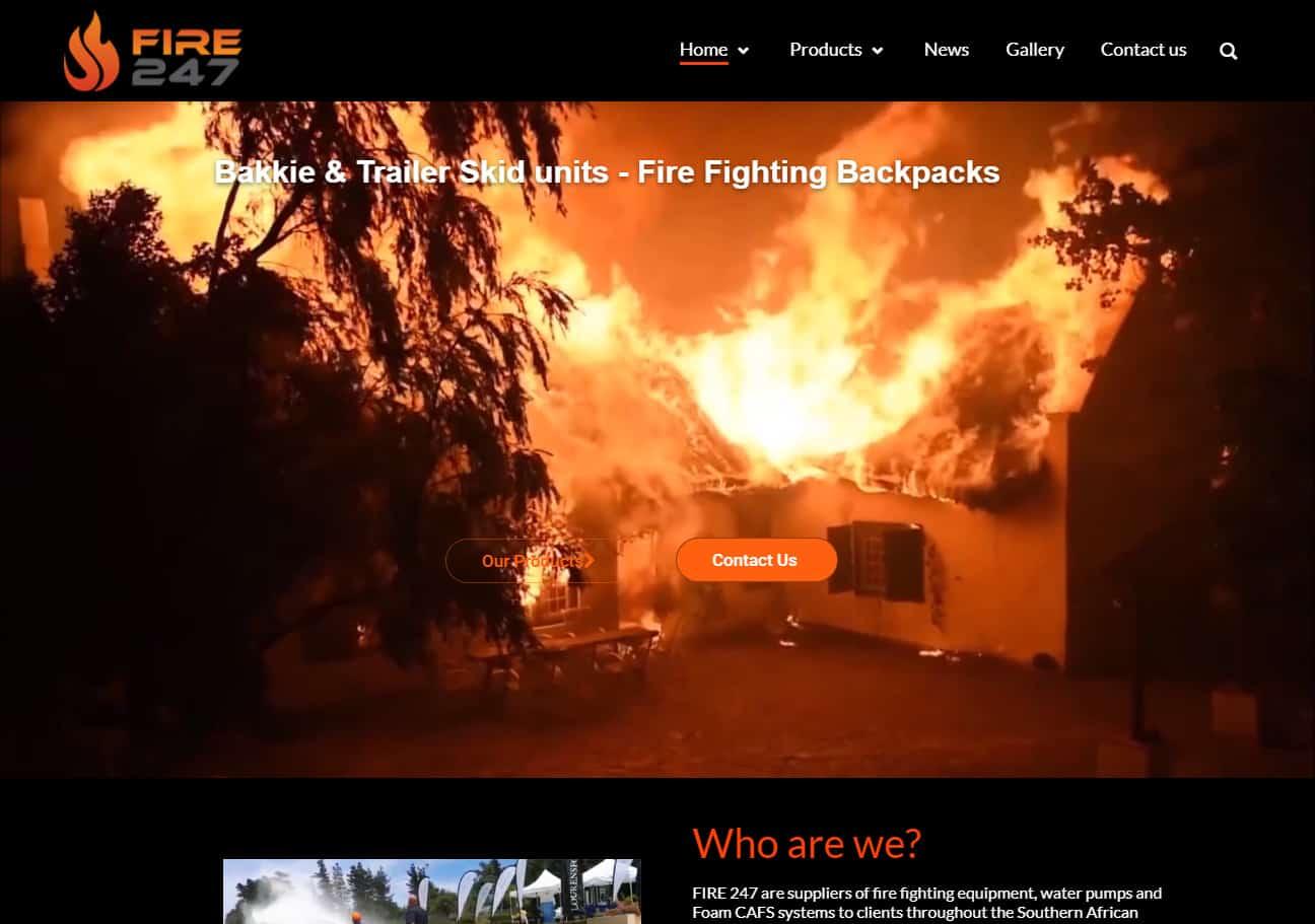 Fire 247 Website